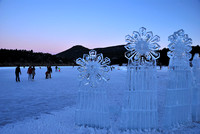 Ice Sculptures with Skaters